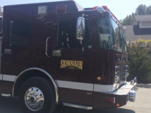 Towing Fireturck to Skywalker Ranch for George Lucas